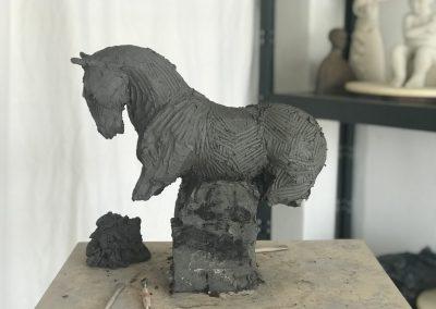Sculpture étude de cheval