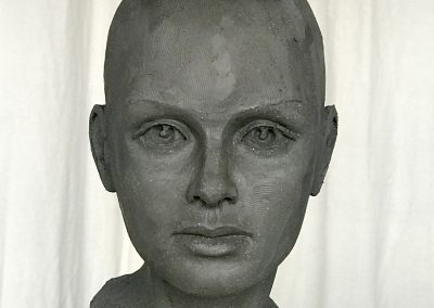Sculpture visage femme